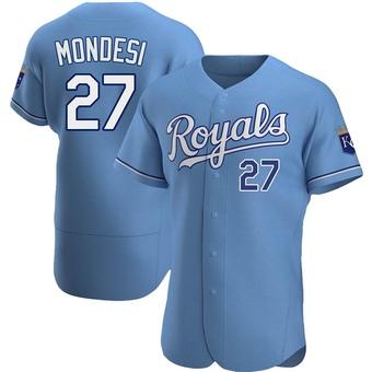 Men's Adalberto Mondesi Kansas City Light Blue Authentic Alternate Baseball Jersey (Unsigned No Brands/Logos)