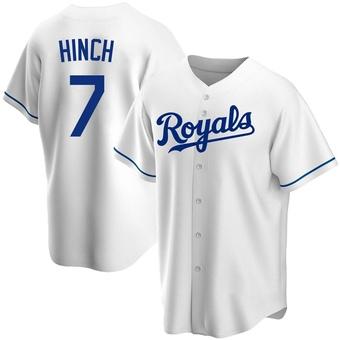 Men's A.j. Hinch Kansas City White Replica Home Baseball Jersey (Unsigned No Brands/Logos)