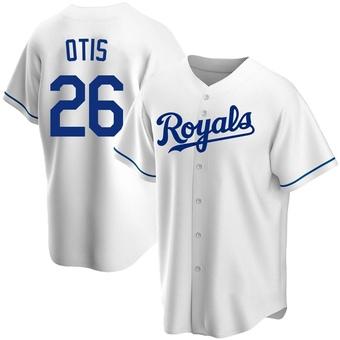 Men's Amos Otis Kansas City White Replica Home Baseball Jersey (Unsigned No Brands/Logos)