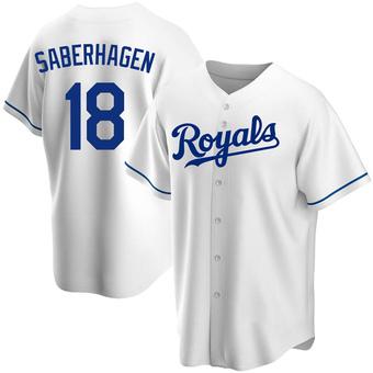 Men's Bret Saberhagen Kansas City White Replica Home Baseball Jersey (Unsigned No Brands/Logos)