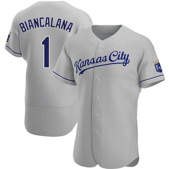 Men's Buddy Biancalana Kansas City Gray Authentic Road Baseball Jersey (Unsigned No Brands/Logos)