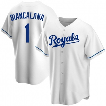 Men's Buddy Biancalana Kansas City White Replica Home Baseball Jersey (Unsigned No Brands/Logos)