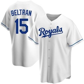 Men's Carlos Beltran Kansas City White Replica Home Baseball Jersey (Unsigned No Brands/Logos)