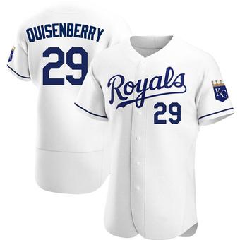 Men's Dan Quisenberry Kansas City White Authentic Home Baseball Jersey (Unsigned No Brands/Logos)