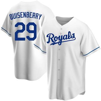 Men's Dan Quisenberry Kansas City White Replica Home Baseball Jersey (Unsigned No Brands/Logos)