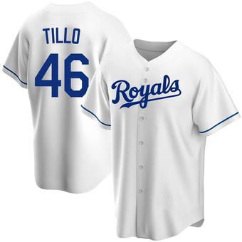 Men's Daniel Tillo Kansas City White Replica Home Baseball Jersey (Unsigned No Brands/Logos)