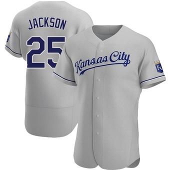 Men's Danny Jackson Kansas City Gray Authentic Road Baseball Jersey (Unsigned No Brands/Logos)