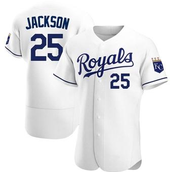 Men's Danny Jackson Kansas City White Authentic Home Baseball Jersey (Unsigned No Brands/Logos)