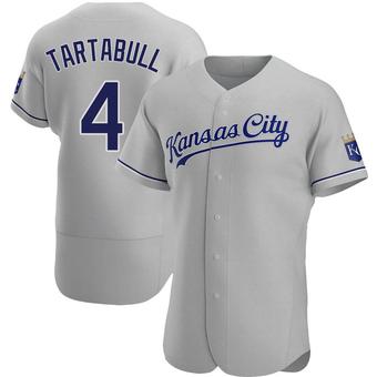 Men's Danny Tartabull Kansas City Gray Authentic Road Baseball Jersey (Unsigned No Brands/Logos)