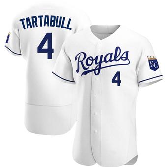 Men's Danny Tartabull Kansas City White Authentic Home Baseball Jersey (Unsigned No Brands/Logos)