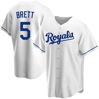 Men's George Brett Kansas City White Replica Home Baseball Jersey (Unsigned No Brands/Logos)