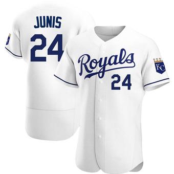 Men's Jakob Junis Kansas City White Authentic Home Baseball Jersey (Unsigned No Brands/Logos)