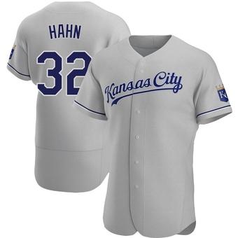 Men's Jesse Hahn Kansas City Gray Authentic Road Baseball Jersey (Unsigned No Brands/Logos)