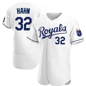 Men's Jesse Hahn Kansas City White Authentic Home Baseball Jersey (Unsigned No Brands/Logos)