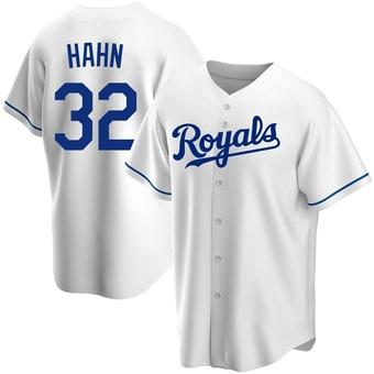 Men's Jesse Hahn Kansas City White Replica Home Baseball Jersey (Unsigned No Brands/Logos)