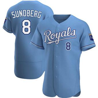 Men's Jim Sundberg Kansas City Light Blue Authentic Alternate Baseball Jersey (Unsigned No Brands/Logos)