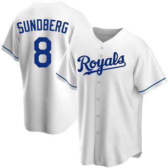 Men's Jim Sundberg Kansas City White Replica Home Baseball Jersey (Unsigned No Brands/Logos)