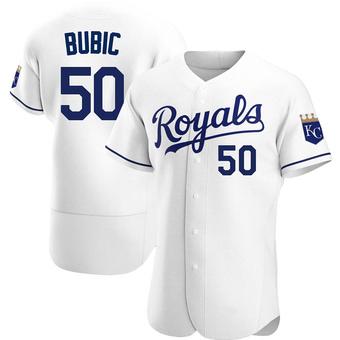Men's Kris Bubic Kansas City White Authentic Home Baseball Jersey (Unsigned No Brands/Logos)