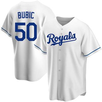 Men's Kris Bubic Kansas City White Replica Home Baseball Jersey (Unsigned No Brands/Logos)