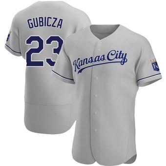 Men's Mark Gubicza Kansas City Gray Authentic Road Baseball Jersey (Unsigned No Brands/Logos)