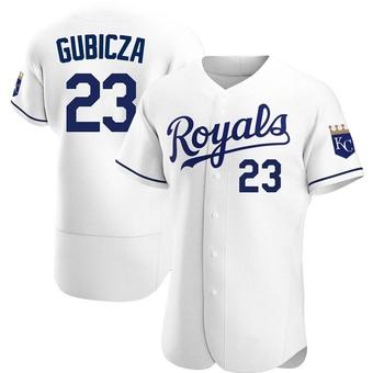 Men's Mark Gubicza Kansas City White Authentic Home Baseball Jersey (Unsigned No Brands/Logos)