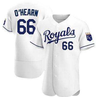 Men's Ryan O'Hearn Kansas City White Authentic Home Baseball Jersey (Unsigned No Brands/Logos)