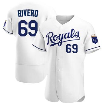 Men's Sebastian Rivero Kansas City White Authentic Home Baseball Jersey (Unsigned No Brands/Logos)