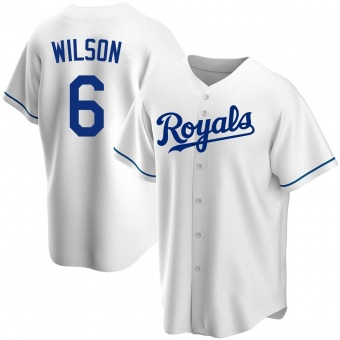 Men's Willie Wilson Kansas City White Replica Home Baseball Jersey (Unsigned No Brands/Logos)
