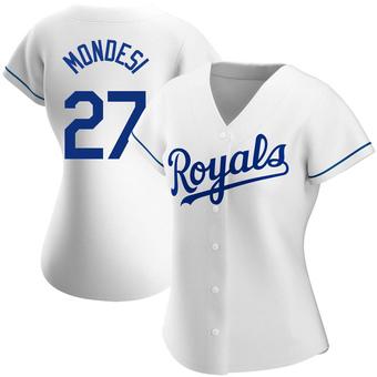 Women's Adalberto Mondesi Kansas City White Authentic Home Baseball Jersey (Unsigned No Brands/Logos)