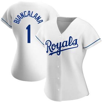 Women's Buddy Biancalana Kansas City White Authentic Home Baseball Jersey (Unsigned No Brands/Logos)
