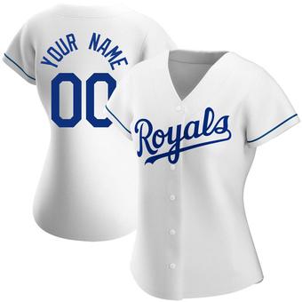 Women's Custom Kansas City White Authentic Home Baseball Jersey (Unsigned No Brands/Logos)