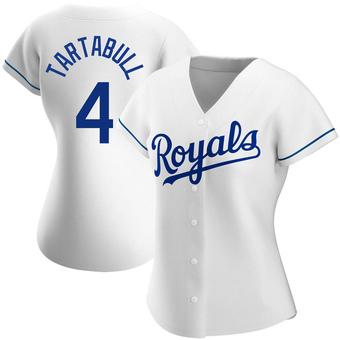 Women's Danny Tartabull Kansas City White Authentic Home Baseball Jersey (Unsigned No Brands/Logos)