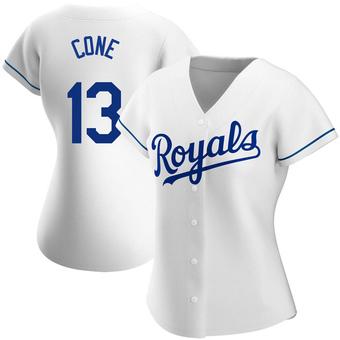 Women's David Cone Kansas City White Replica Home Baseball Jersey (Unsigned No Brands/Logos)