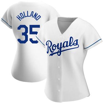 Women's Greg Holland Kansas City White Authentic Home Baseball Jersey (Unsigned No Brands/Logos)