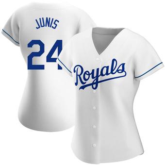 Women's Jakob Junis Kansas City White Authentic Home Baseball Jersey (Unsigned No Brands/Logos)
