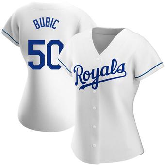 Women's Kris Bubic Kansas City White Replica Home Baseball Jersey (Unsigned No Brands/Logos)