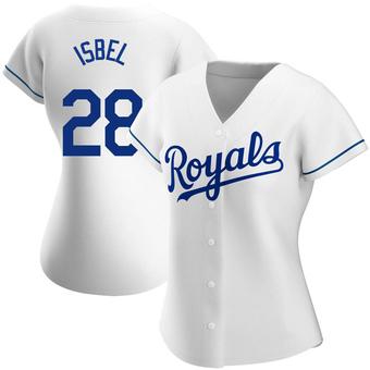 Women's Kyle Isbel Kansas City White Replica Home Baseball Jersey (Unsigned No Brands/Logos)