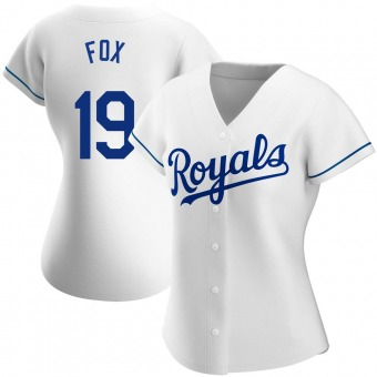 Women's Lucius Fox Kansas City White Authentic Home Baseball Jersey (Unsigned No Brands/Logos)