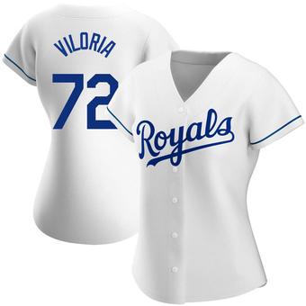 Women's Meibrys Viloria Kansas City White Authentic Home Baseball Jersey (Unsigned No Brands/Logos)