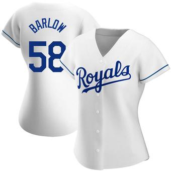 Women's Scott Barlow Kansas City White Replica Home Baseball Jersey (Unsigned No Brands/Logos)