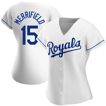 Women's Whit Merrifield Kansas City White Authentic Home Baseball Jersey (Unsigned No Brands/Logos)