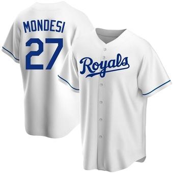 Youth Adalberto Mondesi Kansas City White Replica Home Baseball Jersey (Unsigned No Brands/Logos)