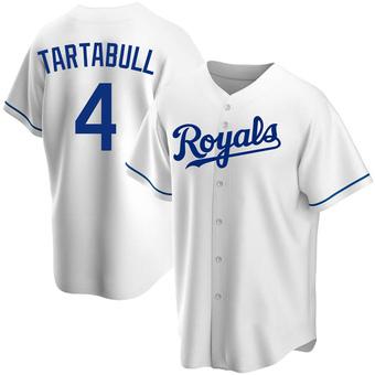 Youth Danny Tartabull Kansas City White Replica Home Baseball Jersey (Unsigned No Brands/Logos)