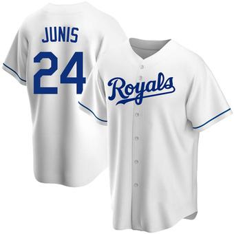 Youth Jakob Junis Kansas City White Replica Home Baseball Jersey (Unsigned No Brands/Logos)