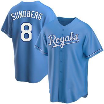 Youth Jim Sundberg Kansas City Light Blue Replica Alternate Baseball Jersey (Unsigned No Brands/Logos)