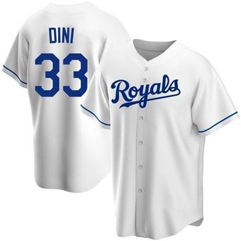 Youth Nick Dini Kansas City White Replica Home Baseball Jersey (Unsigned No Brands/Logos)