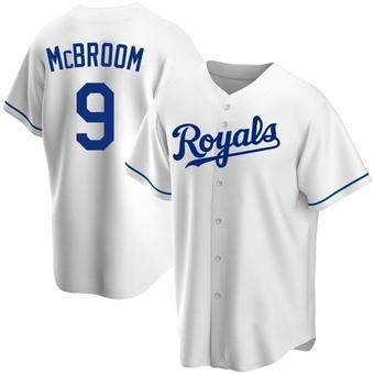 Youth Ryan McBroom Kansas City White Replica Home Baseball Jersey (Unsigned No Brands/Logos)