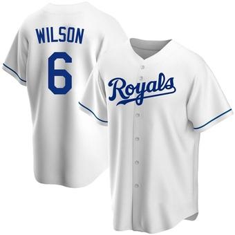 Youth Willie Wilson Kansas City White Replica Home Baseball Jersey (Unsigned No Brands/Logos)